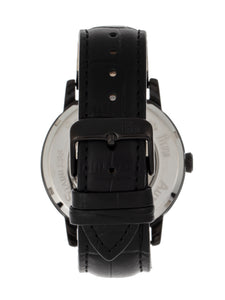 Reign Belfour Automatic Skeleton Leather-Band Watch - Black - REIRN3606