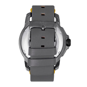 Reign Monarch Automatic Domed Leather-Band Watch - Gunmetal/Grey - REIRN5205