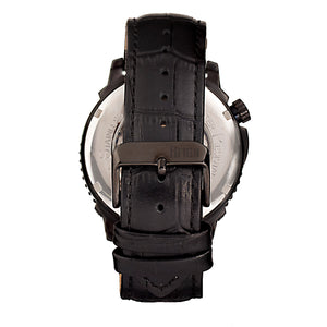 Reign Bauer Automatic Semi-Skeleton Leather-Band Watch - Black - REIRN6007