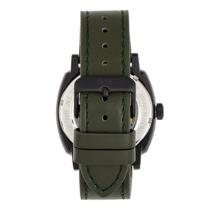 Reign Napoleon Automatic Semi-Skeleton Leather-Band Watch - Black/Green - REIRN5806