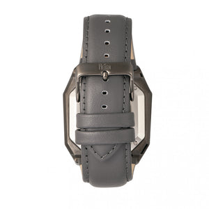 Reign Asher Automatic Sapphire Crystal Leather-Band Watch - Gunmetal/Grey - REIRN5103
