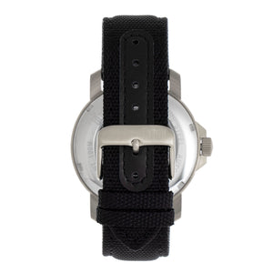Reign Helios Automatic Leather-Band Watch w/Day/Date - Silver/Black - REIRN5705