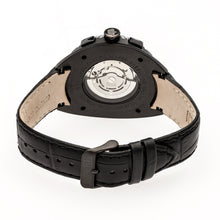 Load image into Gallery viewer, Reign Ronan Automatic Leather-Band Watch w/Day/Date - Black - REIRN3405