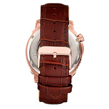 Load image into Gallery viewer, Reign Bauer Automatic Semi-Skeleton Leather-Band Watch - Rose Gold/Black - REIRN6006
