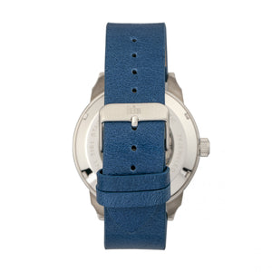 Reign Lafleur Automatic Leather-Band Watch w/Date - Silver/Blue - REIRN5403