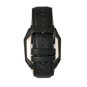 Reign Asher Automatic Sapphire Crystal Leather-Band Watch - Black - REIRN5102