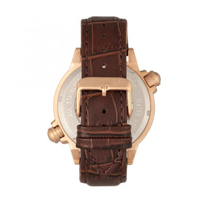 Reign Thanos Automatic Leather-Band Watch - Rose Gold/White - REIRN2104