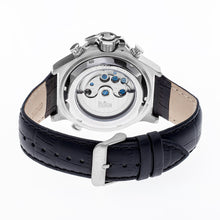 Load image into Gallery viewer, Reign Goliath Automatic Leather-Band Watch - Silver/Black - REIRN3302