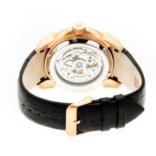 Load image into Gallery viewer, Reign Optimus Automatic Skeleton Leather-Band Watch - Rose Gold/Black - REIRN3806