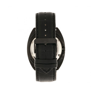 Reign Quentin Automatic Pro-Diver Leather-Band Watch w/Date - Black - REIRN4907
