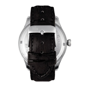 Reign Gustaf Automatic Leather-Band Watch - Black/Silver - REIRN1501