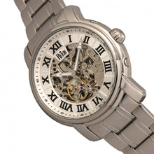 Load image into Gallery viewer, Reign Kahn Automatic Skeleton Bracelet Watch - Silver - REIRN4301