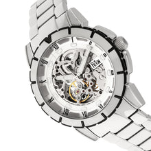 Load image into Gallery viewer, Reign Philippe Automatic Skeleton Bracelet Watch - Silver/White - REIRN4601