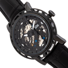 Load image into Gallery viewer, Reign Stavros Automatic Skeleton Leather-Band Watch - Black - REIRN3705