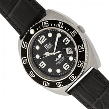 Load image into Gallery viewer, Reign Quentin Automatic Pro-Diver Leather-Band Watch w/Date - Silver - REIRN4905