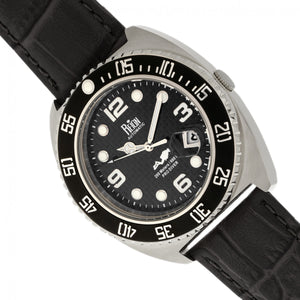Reign Quentin Automatic Pro-Diver Leather-Band Watch w/Date - Silver - REIRN4905