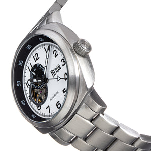 Reign Impaler Semi-Skeleton Bracelet Watch - White/SIlver - REIRN6107