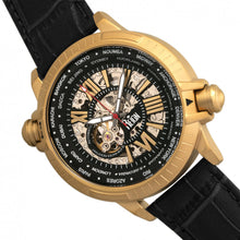 Load image into Gallery viewer, Reign Thanos Automatic Leather-Band Watch - Gold/Black - REIRN2105