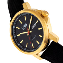 Load image into Gallery viewer, Reign Helios Automatic Leather-Band Watch w/Day/Date - Gold/Black - REIRN5706