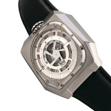 Load image into Gallery viewer, Reign Asher Automatic Sapphire Crystal Leather-Band Watch - Silver/Black - REIRN5101