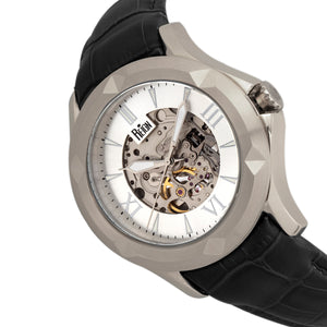 Reign Dantes Automatic Skeleton Dial Leather-Band Watch - Silver - REIRN4703