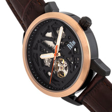 Load image into Gallery viewer, Reign Rudolf Automatic Skeleton Leather-Band Watch - Brown/Black - REIRN5903