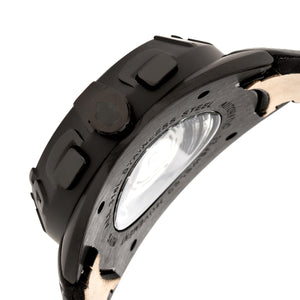 Reign Ronan Automatic Leather-Band Watch w/Day/Date - Black - REIRN3405
