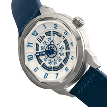 Load image into Gallery viewer, Reign Lafleur Automatic Leather-Band Watch w/Date - Silver/Blue - REIRN5403