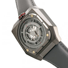 Load image into Gallery viewer, Reign Asher Automatic Sapphire Crystal Leather-Band Watch - Gunmetal/Grey - REIRN5103