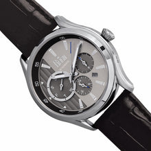 Load image into Gallery viewer, Reign Gustaf Automatic Leather-Band Watch - Black/Silver - REIRN1501