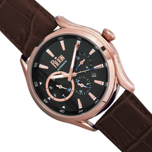 Reign Gustaf Automatic Leather-Band Watch - Brown/Black - REIRN1506