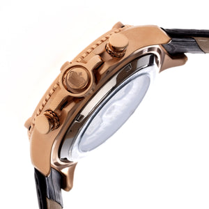 Reign Goliath Automatic Leather-Band Watch - Rose Gold/Silver - REIRN3306