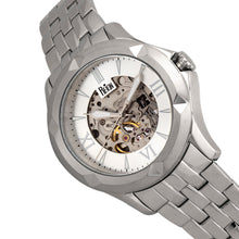 Load image into Gallery viewer, Reign Dantes Automatic Skeleton Dial Bracelet Watch - Silver - REIRN4701