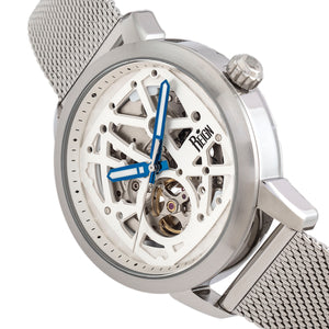 Reign Rudolf Automatic Skeleton Bracelet Watch - Silver - REIRN5901