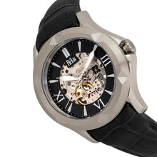 Load image into Gallery viewer, Reign Dantes Automatic Skeleton Dial Leather-Band Watch - Silver/Black - REIRN4704