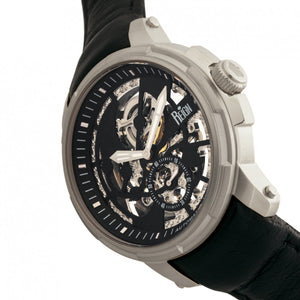 Reign Matheson Automatic Skeleton Dial Leather-Band Watch - Black - REIRN5302