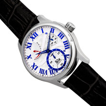 Load image into Gallery viewer, Reign Bhutan Leather-Band Automatic Watch - Silver - REIRN1601