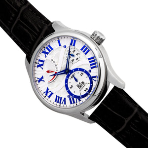 Reign Bhutan Leather-Band Automatic Watch - Silver - REIRN1601