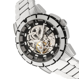 Reign Philippe Automatic Skeleton Bracelet Watch - Silver/Black - REIRN4602