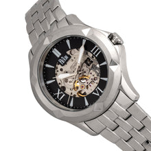 Load image into Gallery viewer, Reign Dantes Automatic Skeleton Dial Bracelet Watch - Silver/Black - REIRN4702