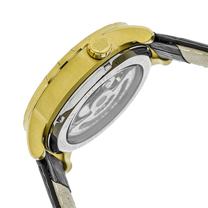 Reign Xavier Automatic Skeleton Leather-Band Watch - Gold/Black - REIRN3904