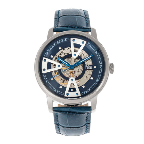 Reign Belfour Automatic Skeleton Leather-Band Watch - REIRN3603