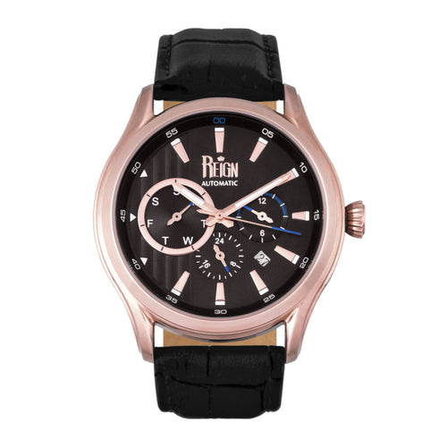 Reign Gustaf Automatic Leather-Band Watch - REIRN1505