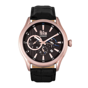 Reign Gustaf Automatic Leather-Band Watch