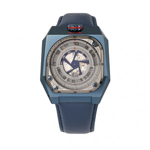 Reign Asher Automatic Sapphire Crystal Leather-Band Watch - Blue - REIRN5105