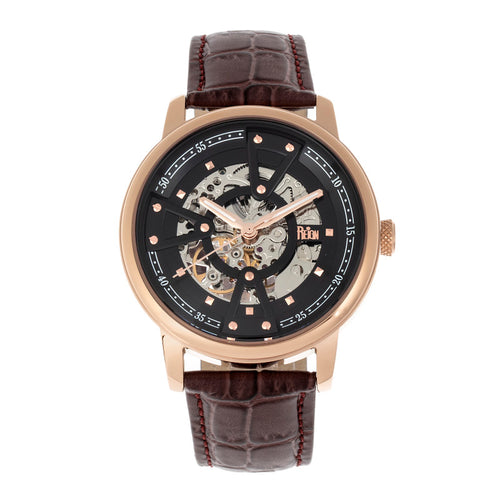 Reign Belfour Automatic Skeleton Leather-Band Watch - REIRN3605