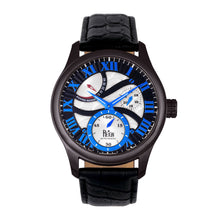 Load image into Gallery viewer, Reign Bhutan Leather-Band Automatic Watch - Black - REIRN1603
