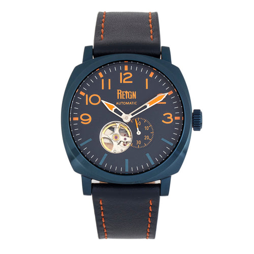 Reign Napoleon Automatic Semi-Skeleton Leather-Band Watch - REIRN5807