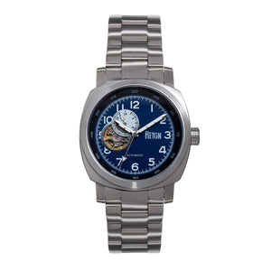 Reign Impaler Semi-Skeleton Leather-Band Watch