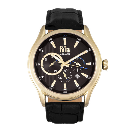 Reign Gustaf Automatic Leather-Band Watch - REIRN1503